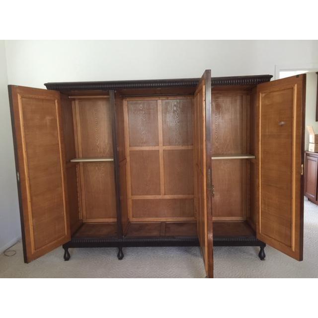 19th Century Mediterranean 3- Door Armoire For Sale In Los Angeles - Image 6 of 11