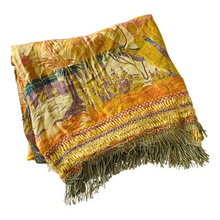 Vibrant Colored Middle Eastern Scene Bed Cover For Sale