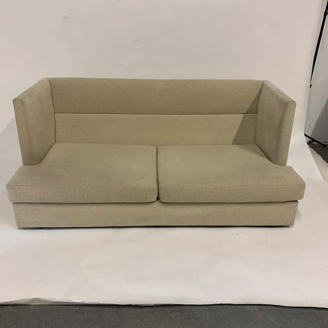 Beige Milo Baughman Shelter Sofa - Excellent For Sale - Image 8 of 11