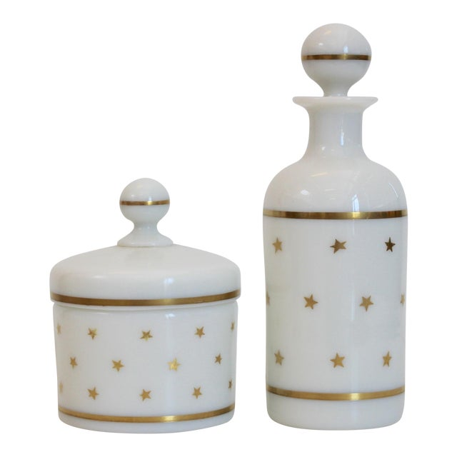 French Portieux Vallerysthal Vanity Set - A Pair - Image 1 of 5