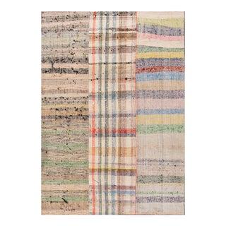 "Apadana - Vintage Multicolored Fine Turkish Flatweave Carpet, 7'11"" x 11'7"" For Sale"