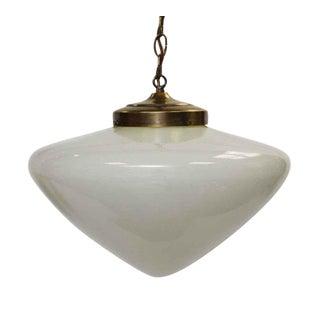 Mid-Century White Globe Pendant Light