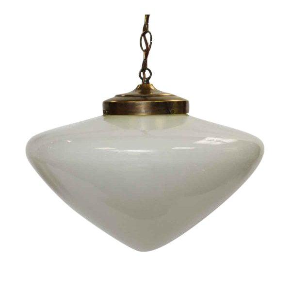 Mid-Century White Globe Pendant Light For Sale