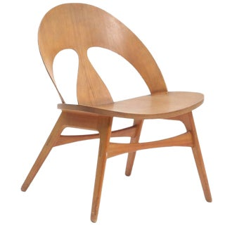 1950s Vintage Borge Mogensen-Cherry Lounge Chair For Sale