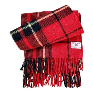 Troy Robe Tartan Plaid Throw Blanket For Sale