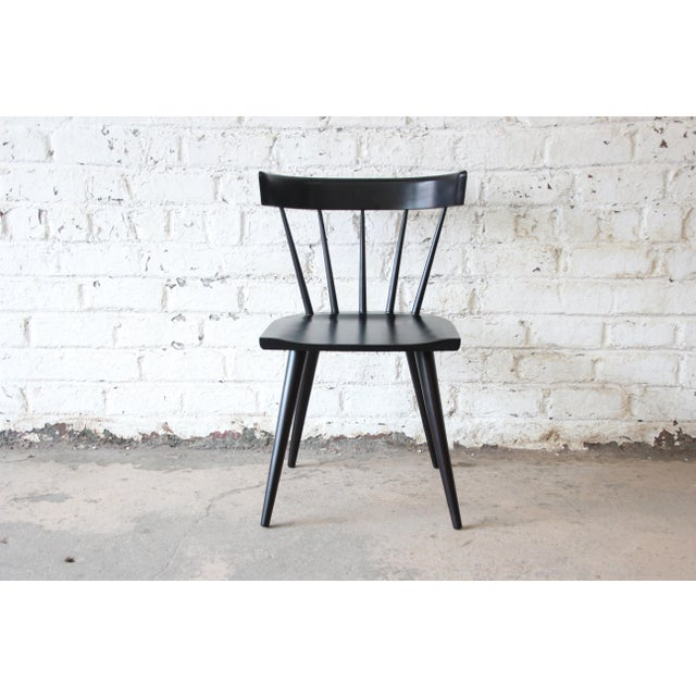 Set of Eight Paul McCobb Ebonized Planner Group Dining Chairs For Sale - Image 9 of 13