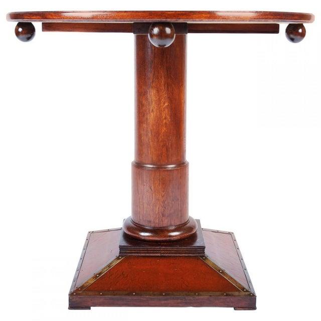 Beech Vintage Art Nouveau table For Sale - Image 7 of 7