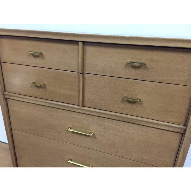 Kent Coffey Vintage Mahogany & Brass Tall Dresser - Image 6 of 9