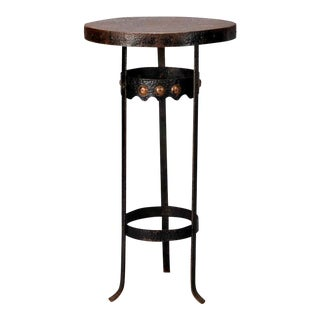 Arts and Crafts Bronze Metal Gueridon Side Table c.1930 For Sale