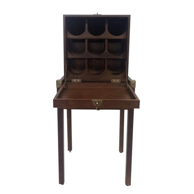 Campaign-Style Wine Rack For Sale