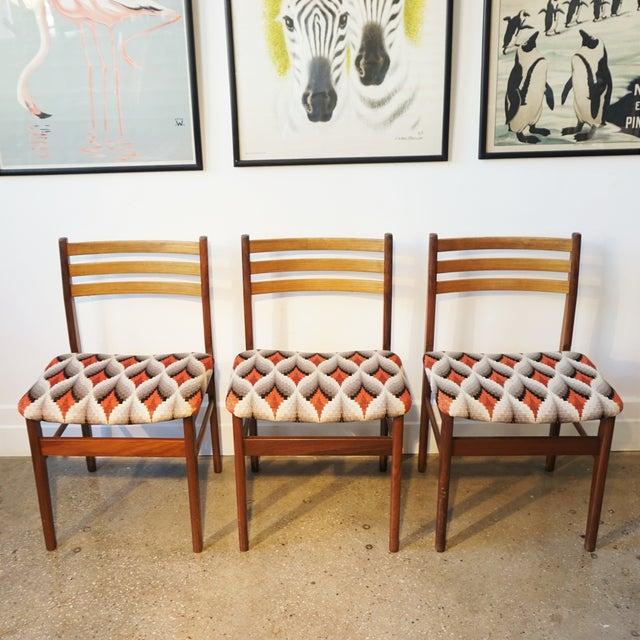 Danish Modern Teak & Beech Chairs - Set of 6 - Image 7 of 7