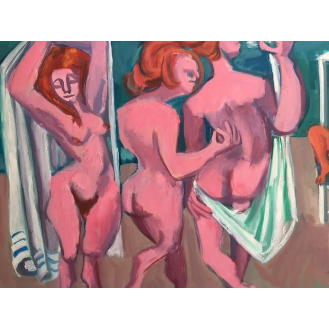 """George Conrand """"The Bathers"""" Oil on Canvas - Image 6 of 7"""