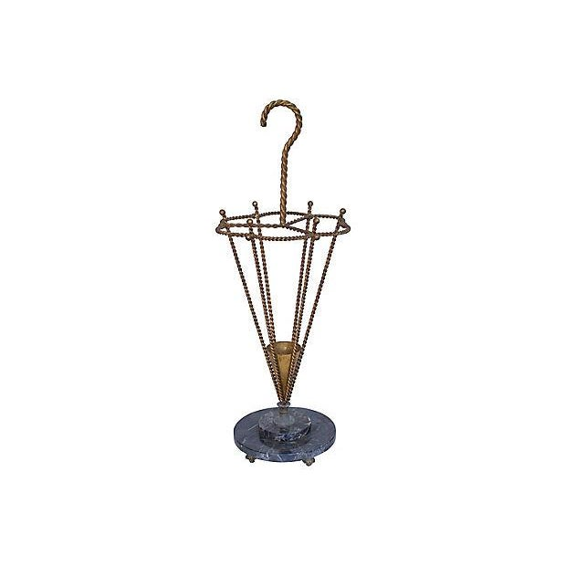1950s Italian Gilt Umbrella Stand For Sale In Los Angeles - Image 6 of 6