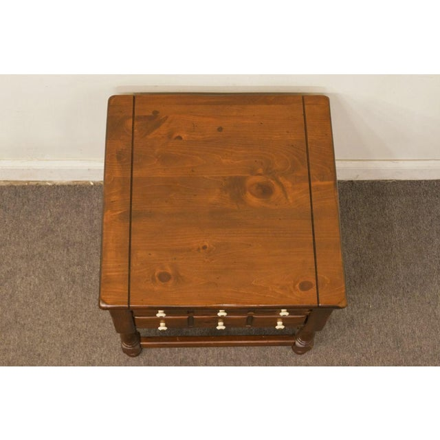 Ethan Allen Late 20th Century Vintage Ethan Allen Pine Nightstand For Sale - Image 4 of 13