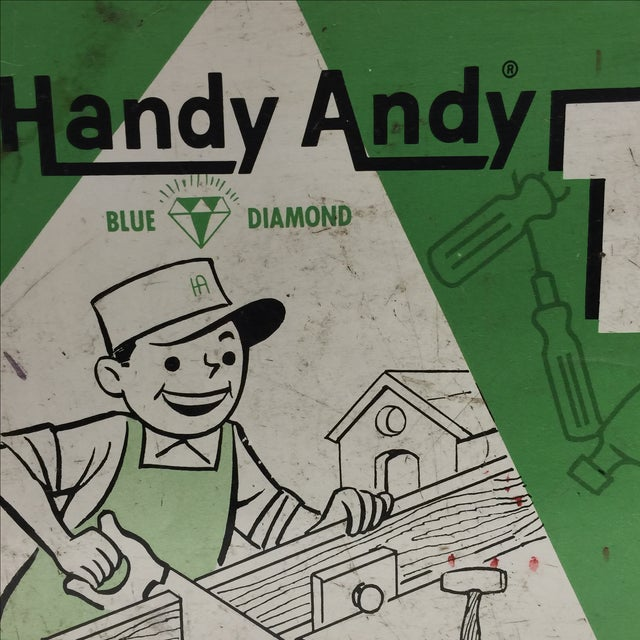 Vintage Handy Andy Green Tool Set Box - Image 5 of 8