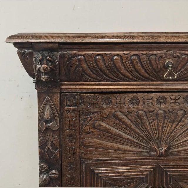 Wood 19th Century Flemish Renaissance Cabinet For Sale - Image 7 of 13