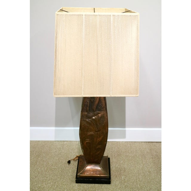 Vintage midcentury 1960's large copper lamp, in great condition!