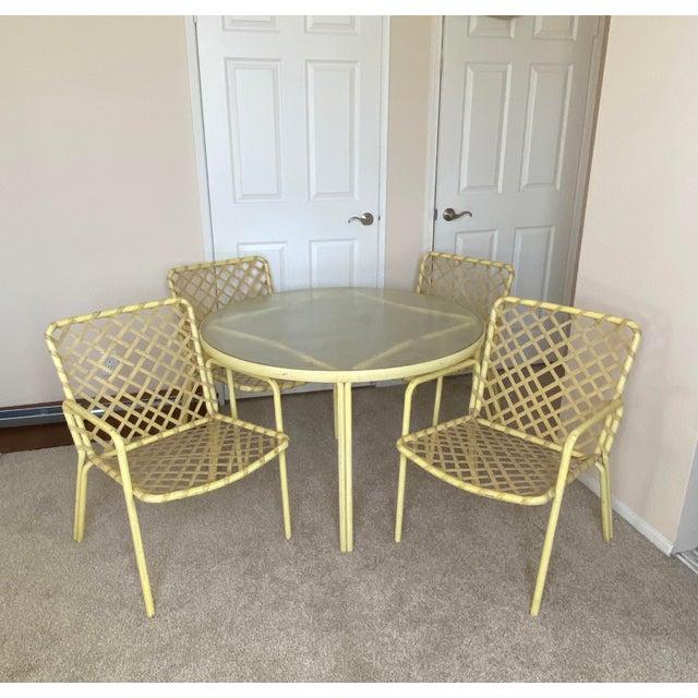 Vintage Yellow Brown Jordan Tamiami, Vintage Brown Jordan Outdoor Furniture