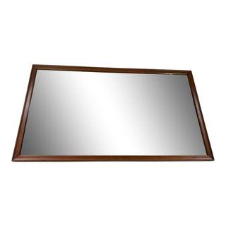 1960s Kipp Stewart for Drexel Clean Lined Walnut Mirror For Sale
