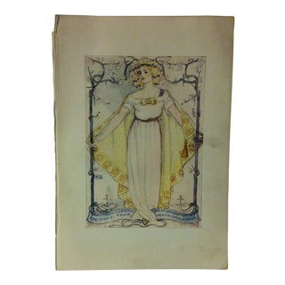 """Antique """"Art Thou Indeed Deirdre That Deirdre Whom I Have Dreamed"""" Enchanted Land Print by G.P. Putnam's Sons Circa 1900 For Sale"""