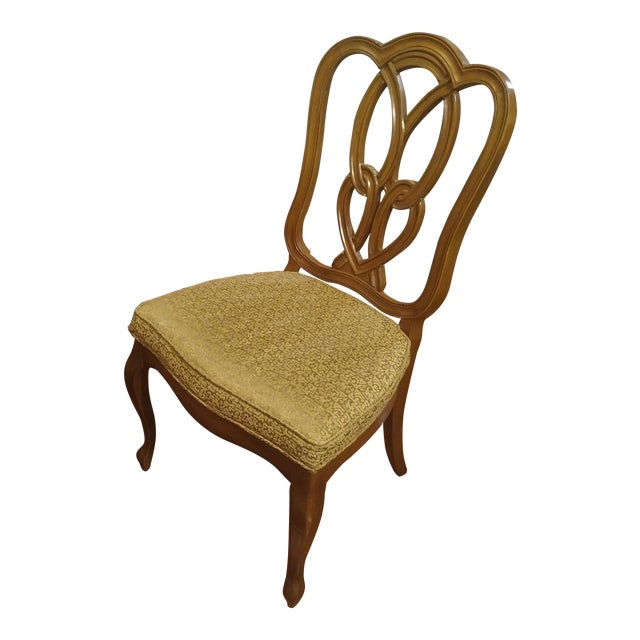 1960s French Country Gold Maple Side Chair For Sale