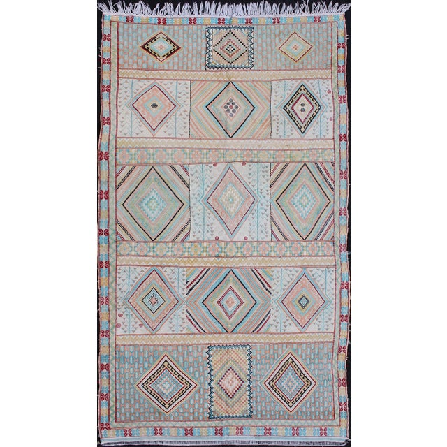 Keivan Woven Arts, S12-0303, Vintage Mid-Century Embroidered Moroccan Rug - 5′ × 9′ For Sale - Image 10 of 10