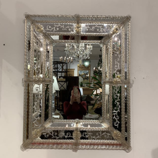 GLAMOURS! Vintage Murano mirror. Excellent condition.