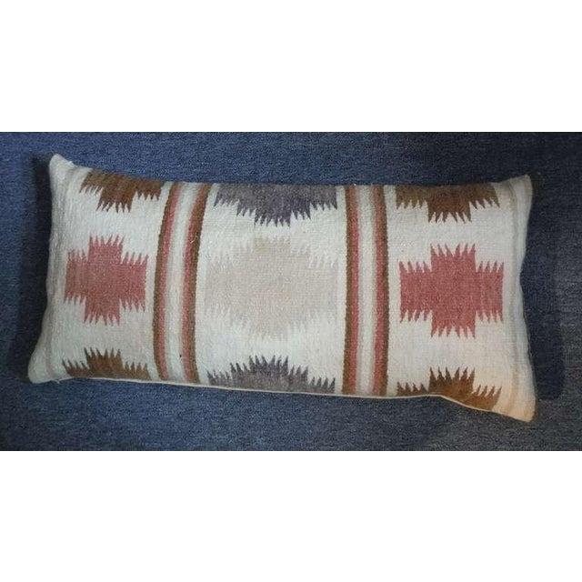Adirondack Large Navajo Indian Weaving Bolster Pillow For Sale - Image 3 of 4