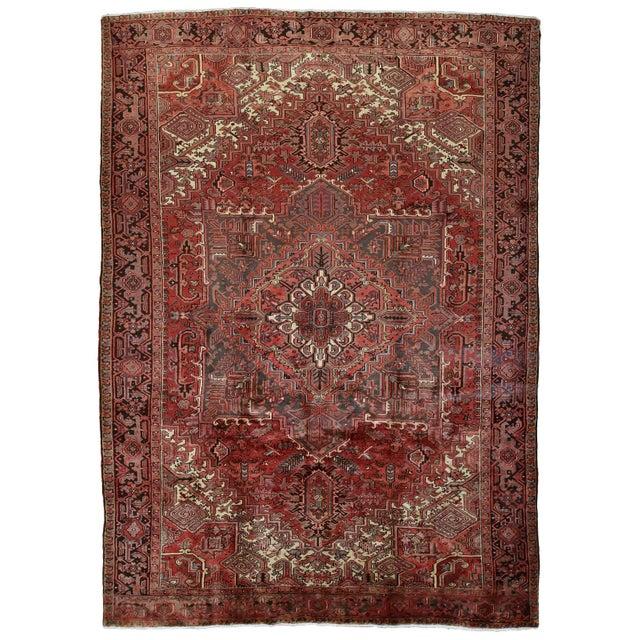 Vintage Persian Heriz Rug - 8'1'' X 11'3'' For Sale - Image 13 of 13