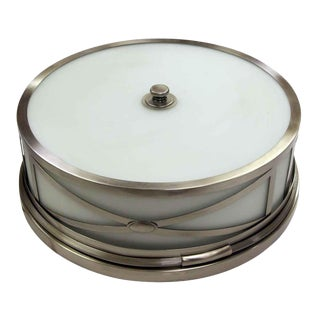 Modern Cylinder Shaped Flush Mount Light For Sale