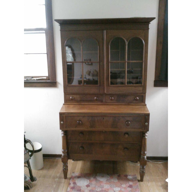 Antique Secretary Desk with Shelving - Image 6 of 9