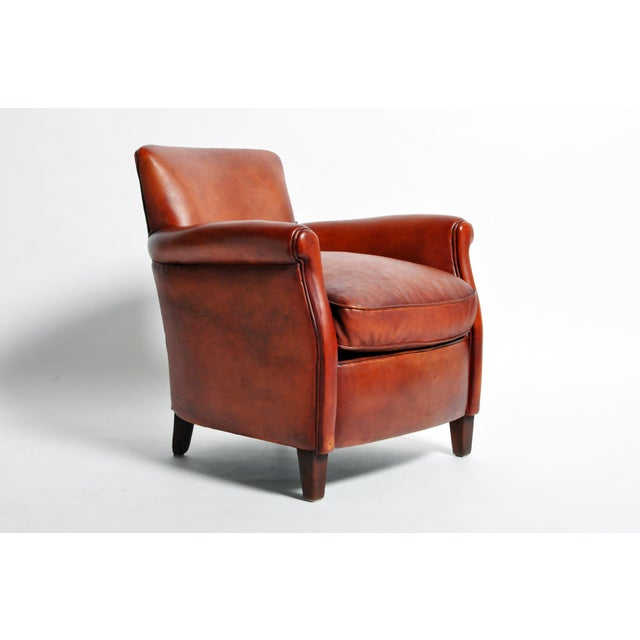 2010s French Leather Armchairs - a Pair For Sale - Image 5 of 13