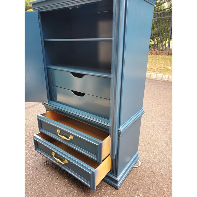 1960s Vintage Moscow Midnight Blue Armoire For Sale - Image 5 of 12