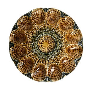 French Majolica Oyster Plates For Sale