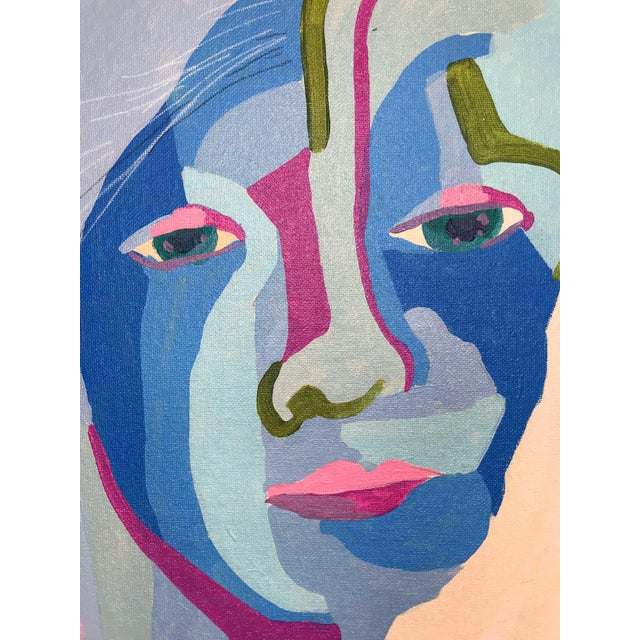 This abstract portrait is by contemporary artist Linda Ward of Detroit. This portrait is #141 out of a series of 500...