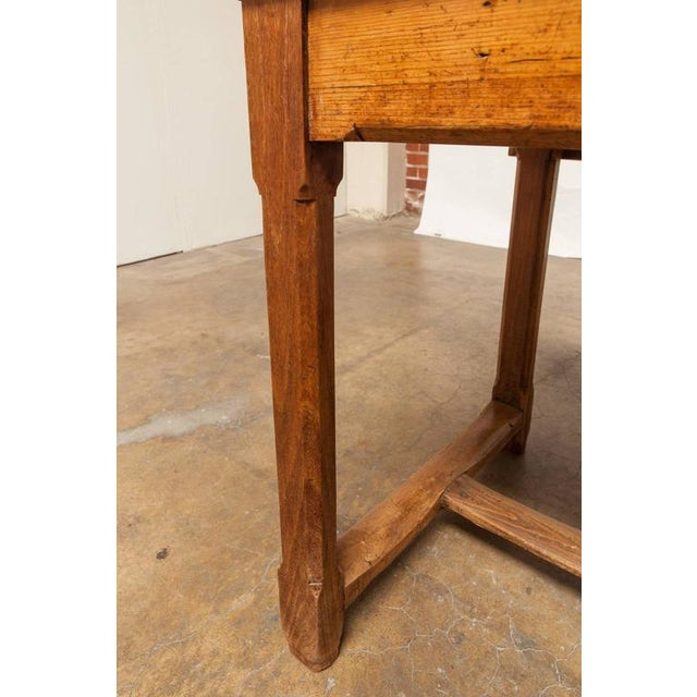 19th Century French Farmhouse Kitchen Table & Leaves - Image 9 of 10