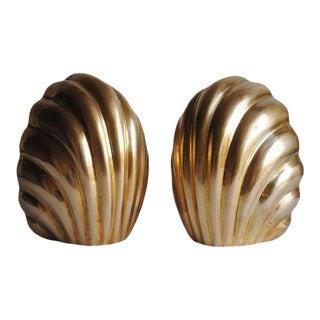 Sculptural Brass Bookends - a Pair