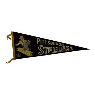 Vintage Football Team Pennant - Pittsburgh Steelers Circa 1950 For Sale