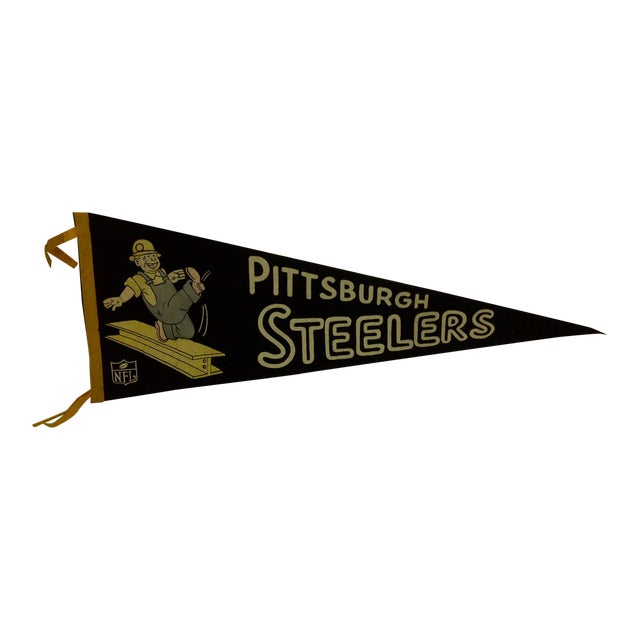 Vintage Football Team Pennant - Pittsburgh Steelers Circa 1950 For Sale