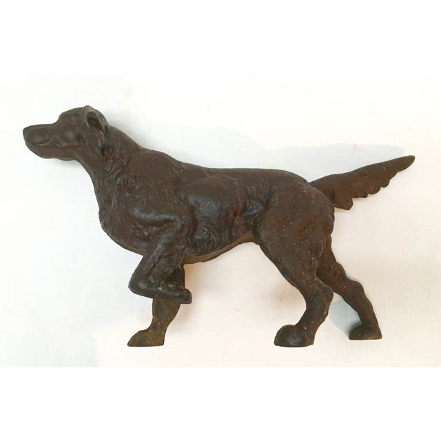 Vintage Cast Iron Sporting Dog Doorstop For Sale - Image 4 of 12