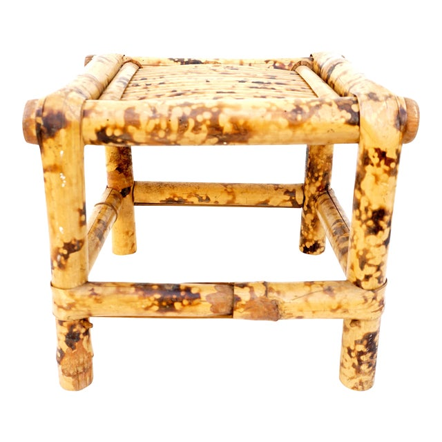 Vintage Tortoise Bamboo Plant Stand For Sale