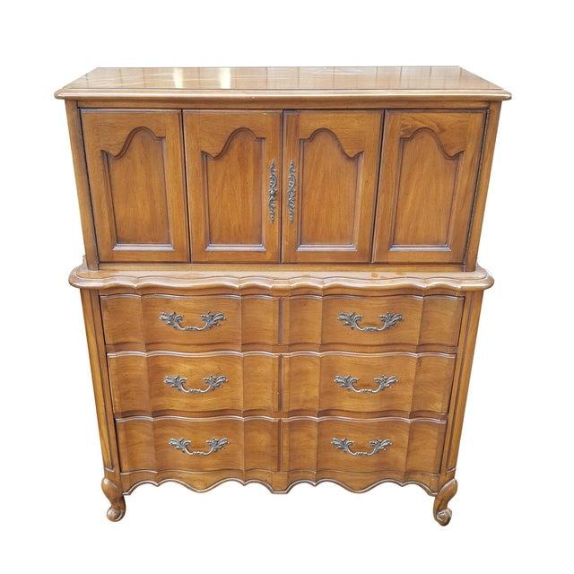 Vintage White Fine Furniture Highboy Dresser - Image 1 of 4