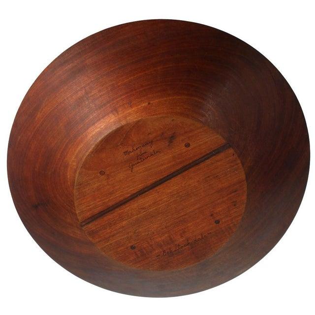 Bob Stocksdale Bob Stocksdale Studio Craft Lathe Turned Mahogany Fruit Bowl For Sale - Image 4 of 4