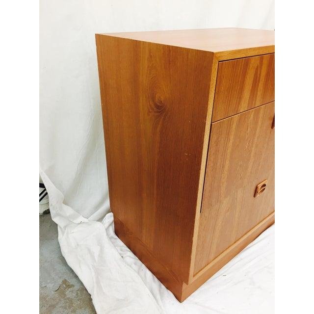 Wood Vintage Danish Modern Chest For Sale - Image 7 of 9