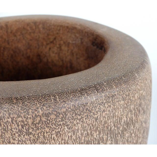 Organic Modern Palm Wood Umbrella Stand, Vessel or Vase For Sale - Image 4 of 7