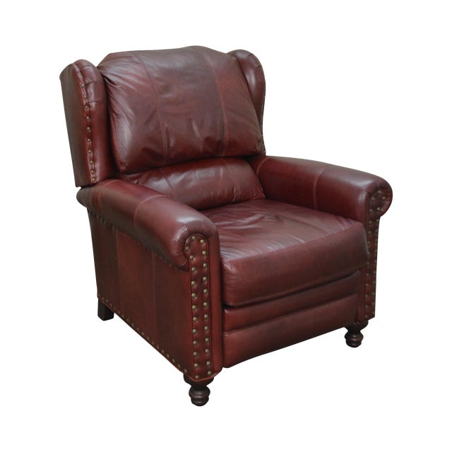 Bradington Young Oxblood Leather Recliner Lounge Chair - Image 1 of 10