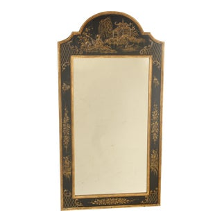 1980s Chinoiserie Decorated Mirror For Sale