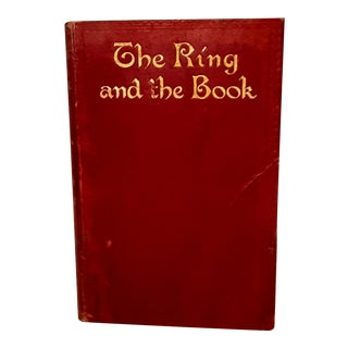 1912 Vintage Robert Browning Classic Fiction Red & Gold Book For Sale