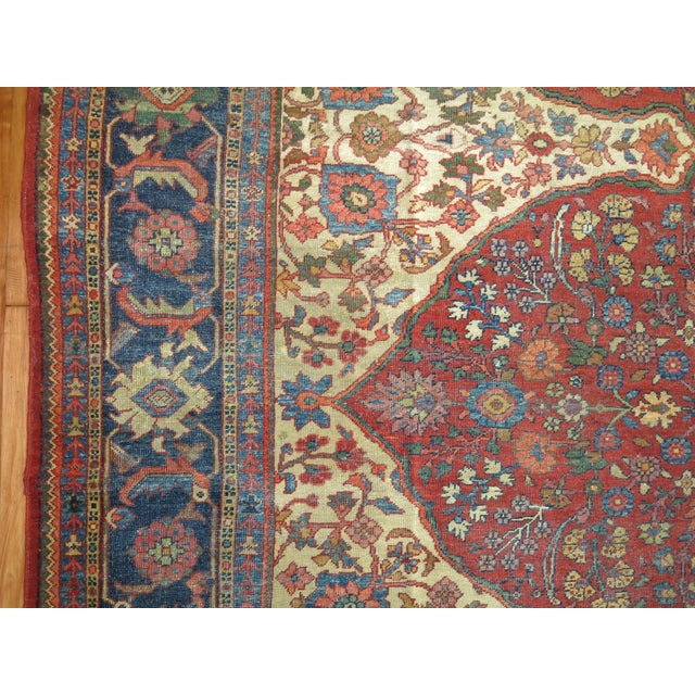 Textile Shabby Chic Persian Sultanabad Rug 9'3'' X 12'6'' For Sale - Image 7 of 9