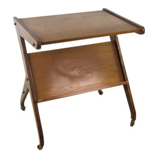 1960 Danish Modern Teak Bar Cart For Sale